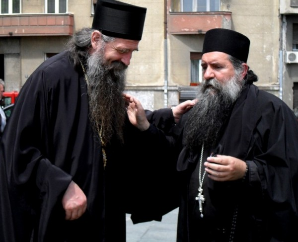 Bishop Joanikije of Budimlja and Niksic and Archimandrite Luka (Annic)