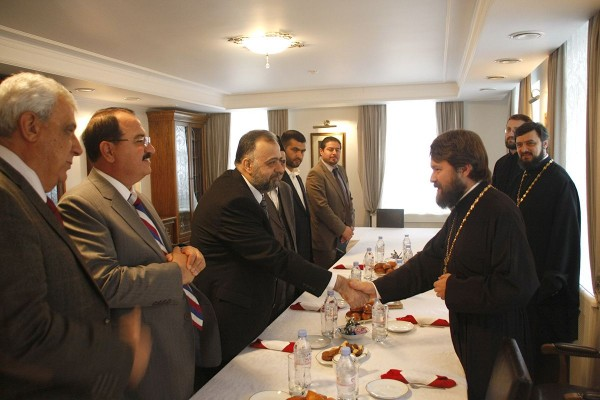 Metropolitan Hilarion meets with Syria's Minister of Endowment and religious affairs