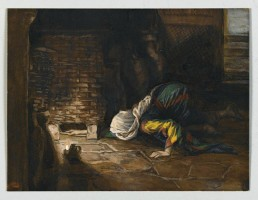"""The Lost Drachma, Illustration from """"The life of Our Lord Jesus Christ"""" by James Jacques Joseph Tissot"""