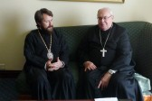 Metropolitan Hilarion meets with cardinal Sandri, Prefect of congregation for the Oriental Churches