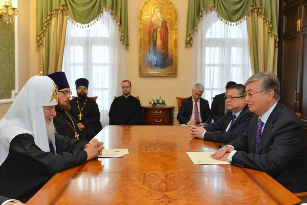 Patriarch Kirill meets with Kazakhstan's Senate Speaker K. Tokaev