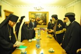 Metropolitan Hilarion of Volokolamsk meets with the Head of the Coptic Church