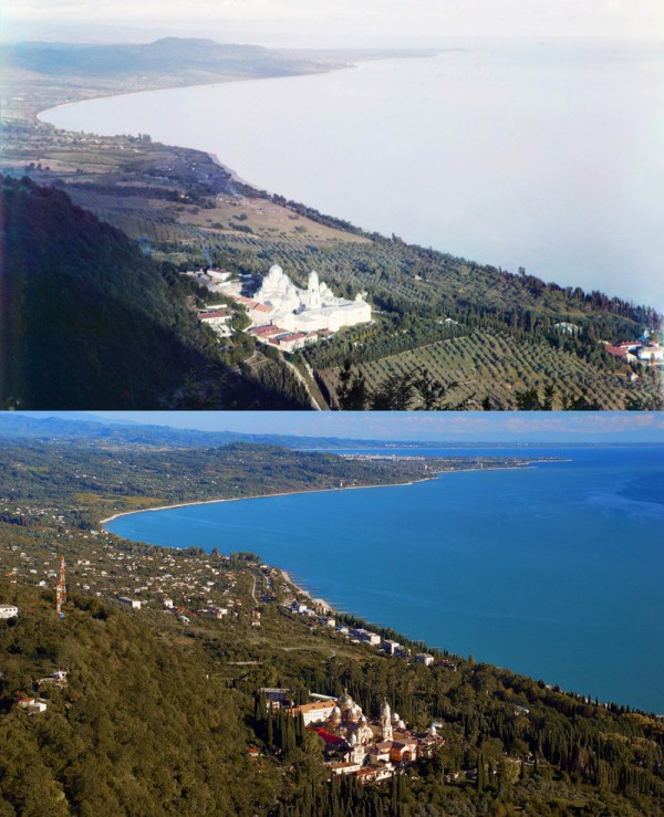 New Athos. View from the Iberian mountains. 1904/2012 (Mikhail Nemir)
