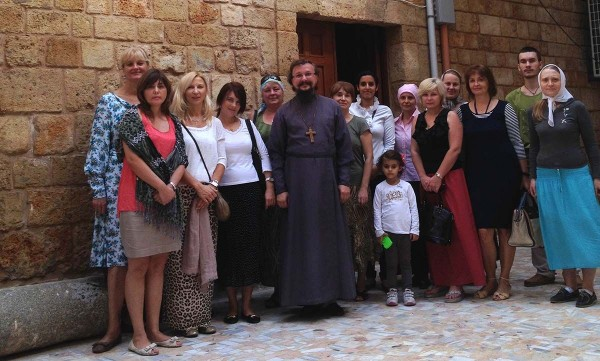 Parishioners of Beirut representation of Russian Orthodox Church worship in Tyre