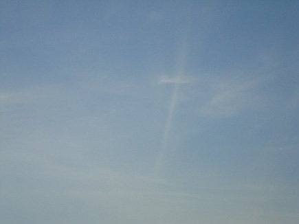 Cross of Clouds Appears in the Sky Above Mariupol, Ukraine