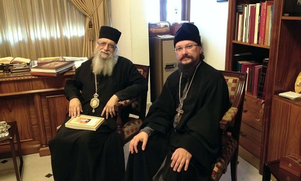 Representative of the Patriarch of Moscow to Patriarch of Antioch meets with Metropolitan Ephraim of Tripoli