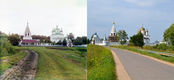 General view of the Ferapontovskii Monastery near Mozhdysk. 1911/2012. (V. Ratnikov)