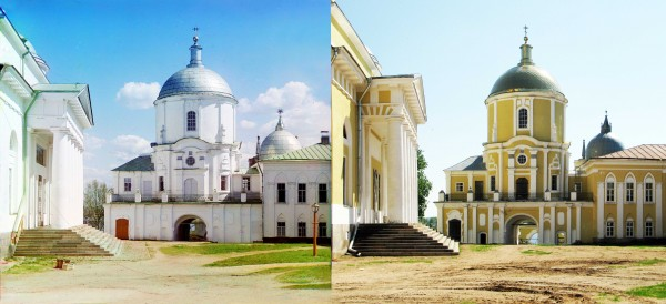 Entrance into the St. Nilus Hermitage (the Holy Gates with the gate church of St. Nilus). 1910/2010. (V. Ratnikov)