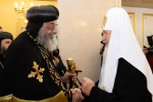 His Holiness Patriarch Kirill of Moscow and all Russia meets with Patriarch o the Coptic Church Tawadros II