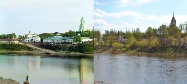 Pyatnitskaya Church. Taken from the Dormition Monastery. Staritsa. 1910/2013. (V. Ratnikov)