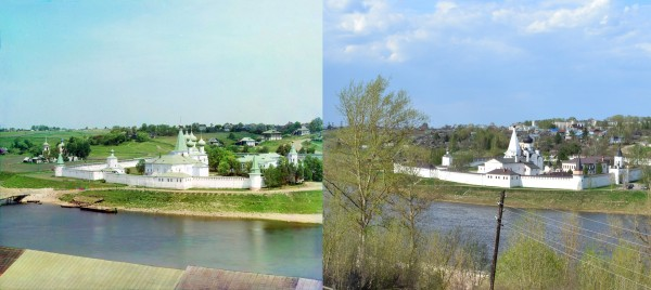 Dormition-Staritskiy Monastery. View from the fortress. 1910/2013. (V. Ratnikov)