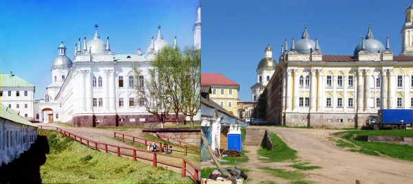 The main building of the Monastery of St. Nilus of Stolbnyi. 1910/2010. (V. Ratnikov)