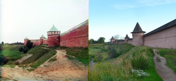 Western wall of the Spaso-Euphrosyne Conven. Suzdal. 1912/2012. (V. Ratnikov)