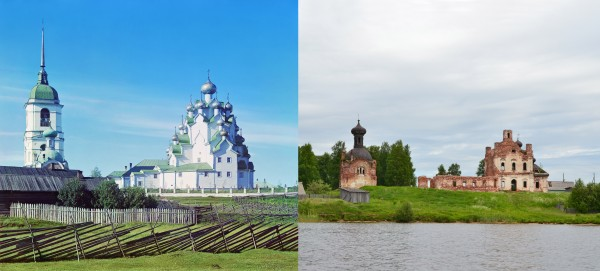 Church of the Savior and of the Protection of the Most Holy Theotokos. Vytegorskiy churchyard (Anhimovo). 1909/2013. (V. Ratnikov)