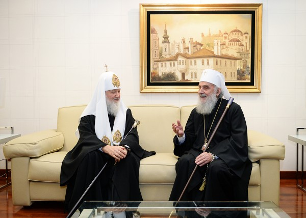 His Holiness Patriarch Kirill of Moscow and all Russia arrives in Belgrade