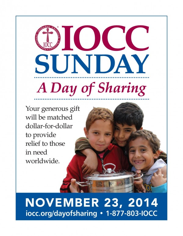 IOCC Sunday is November 23