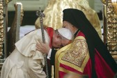 Francis decries forced uniformity, receives blessing from Patriarch Bartholomew