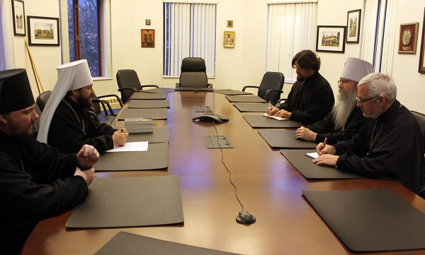Metropolitan Hilarion meets with Primate of the Orthodox Church in America