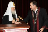 Patriarch Kirill of Moscow and All Russia doctor honoris causa of the Belgrade University