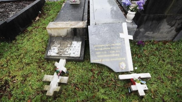 Russian, Serbian graves desecrated by vandals at Rookwood Cemetery