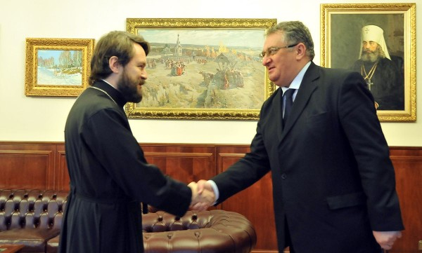 Metropolitan Hilarion meets with newly appointed ambassador of Hungary to Russia