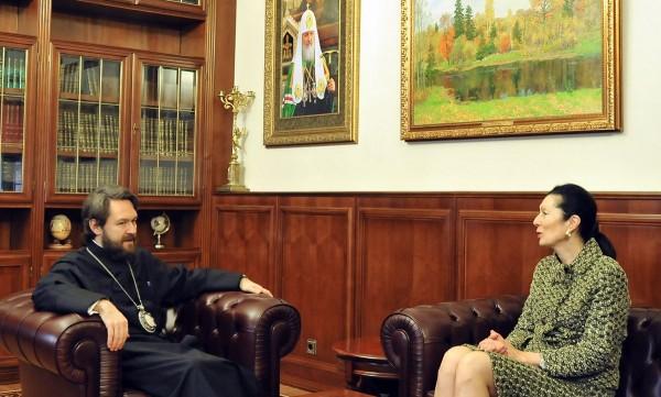 Metropolitan Hilarion meets with Austria's Ambassador to Russia