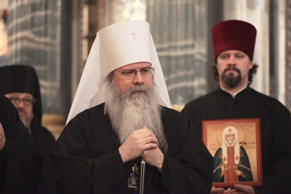 Patriarchal greetings to His Beatitude Metropolitan Tikhon of all America and Canada on the occasion of anniversary of His enthronement