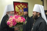 His Beatitude Metropolitan Tikhon of all America and Canada arrives in Moscow