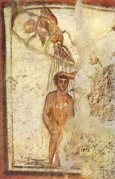 Fresco from the Roman Catacombs, third century