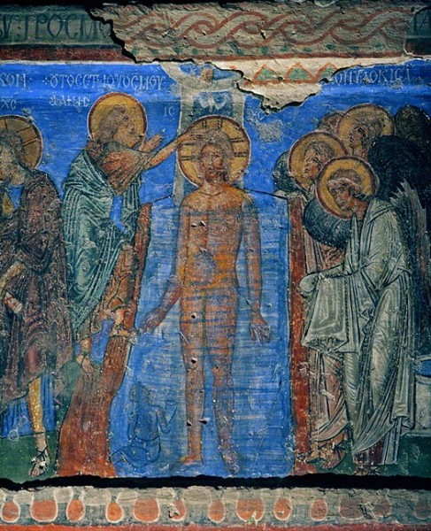 Fresco from the Church of Tokai Kilis in Goreme. Tenth-eleventh centuries. Cappadocia. Turkey.