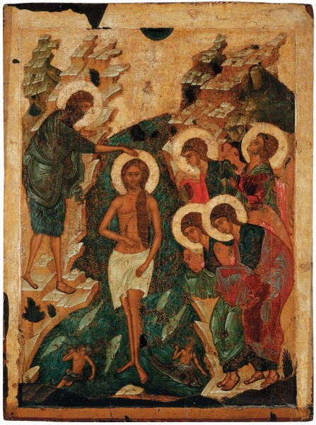 Icon from the festal row of the Dormition Cathedral in Vladimir. 1408. State Russian Museum, St. Petersburg.