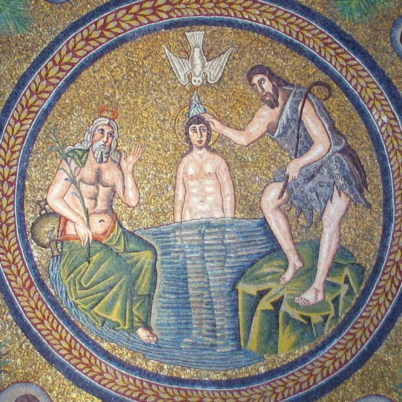 Mosaic from the arch of an Arian Baptistry. End of the fifth century. Ravenna, Italy.