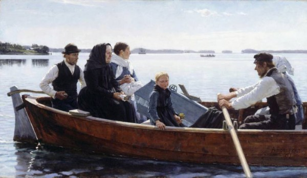 Albert Edelfelt. A Child's Funeral (1879)