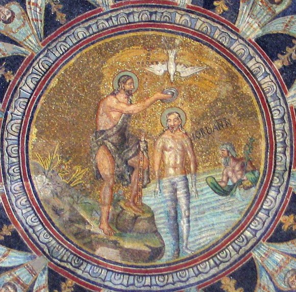 Mosaic from the arch of the Orthodox Baptistery. Roughly middle of the fifth century. Ravenna, Italy.