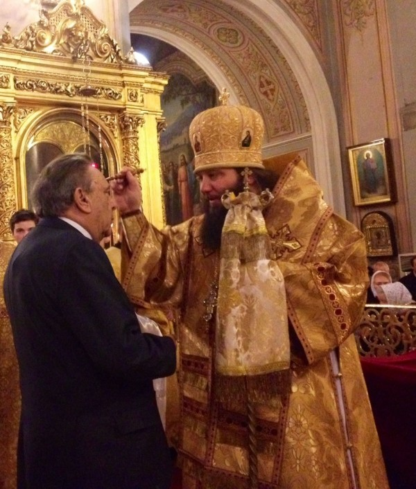 Bishop Nicholas of Manhattan heads vigil service at Epiphany Cathedral in Elokhovo