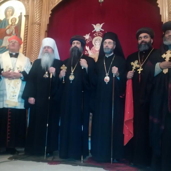 Metropolitan Tikhon speaks at NY memorial for Coptic martyrs