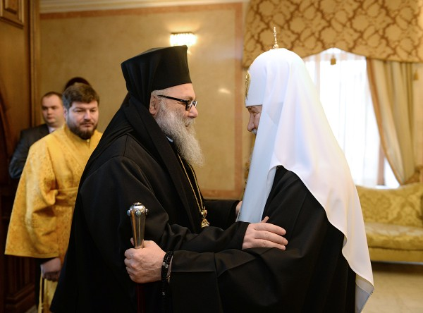 His Holiness Patriarch Kirill meets with the Primate of the Orthodox Church of Antioch