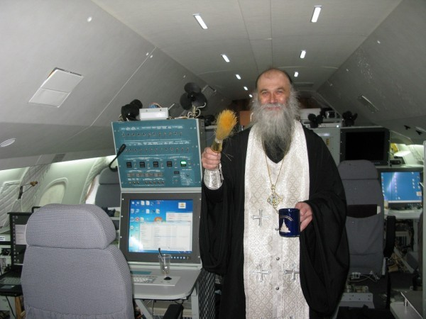 The consecration of a charter flight - the Roshydromet Air Laboratory