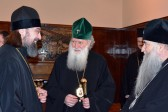 His Holiness Patriarch Neofit of Bulgaria receives delegation of the Russian Orthodox Church