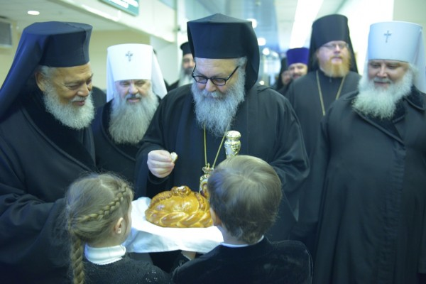 Patriarch of Great Antioch and All the East arrives in Moscow