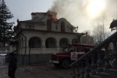 Canteen at the Gorlovka Cathedral in Ukraine damaged by shelling