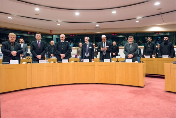 Moscow Patriarchate's Representative takes part in the meeting of European Parliament's leaders with religious leaders of Europe