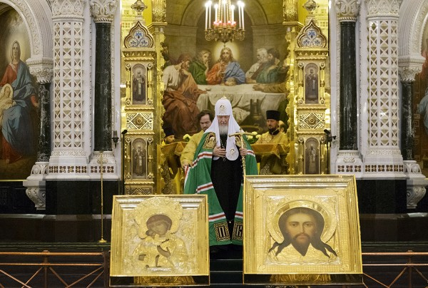 On Sunday of Orthodoxy, Patriarch Kirill celebrates Liturgy at the Church of Christ the Saviour