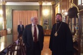 Administrator of patriarchal parishes in the USA meets with Russia's ambassador in USE USA