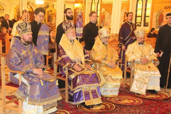 Hierarchs of three local Orthodox Churches celebrate Sunday of Orthodoxy at Archdiocese of Antioch Cathedral in USA