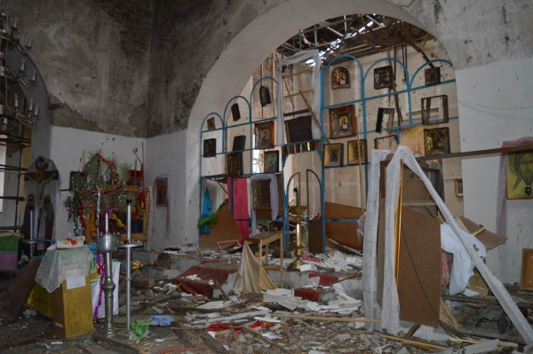 Key Orthodox church of Luhansk Region damaged by shelling