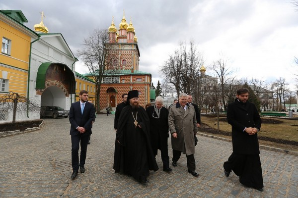 US Ambassador John Tefft visits St Sergius's Laura of the Trinity