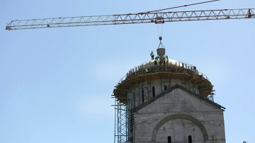 Tbilisi: Cathedral construction on Makhata hill completed