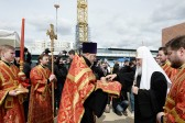 Patriarch Kirill consecrates a foundation stone of the church to commemorate Special Service officers