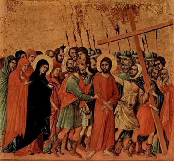 """Duccio di Buoninsegna. """"Maestà."""" """"Way to Calvary"""""""
